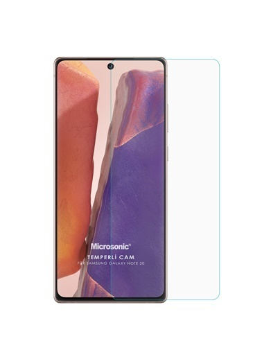 Microsonic Samsung Galaxy Note 20 Tempered Glass Cam Ekran Koruyucu Renksiz